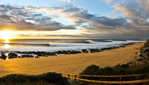 Supertubes  delivered during the '14 JBay Winterfest. Photo: Roy Harley