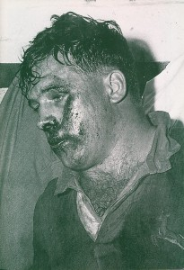 Jaap Bekker after the 3rd test against the All Blacks in 1956
