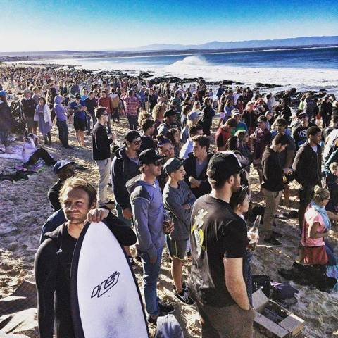 The crowds at the 2015 JBay Open. Photo: JBay Winterfest