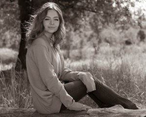 Black and white senior photo session outside in Colorado Springs