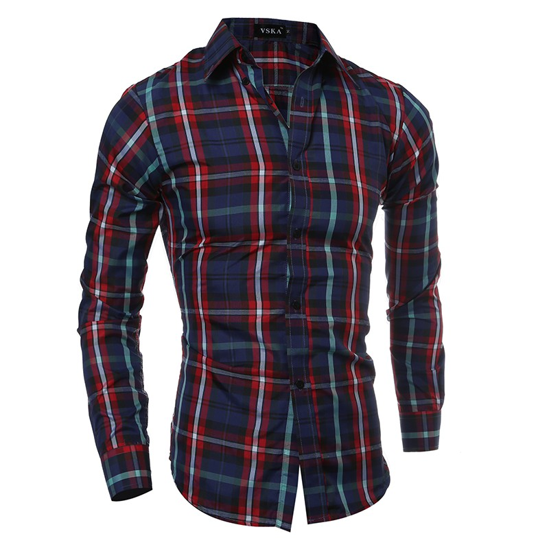 bc225fdca5a 2018 Autumn Men s Wear New Classic Plaid Men s Casual Long Sleeve Shirt  Korean Slim ...