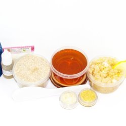 JBHomemade Natural Coconut Lemon Sugar Scrub Sugaring Wax Starter Kit