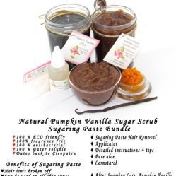 JBHomemade Natural Pumpkin Vanilla Brown Sugar Scrub Sugaring Paste Bundle