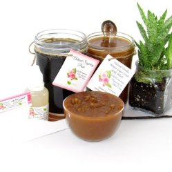 JBHomemade Natural Vanilla Brown Sugar Scrub Sugaring Paste Bundle