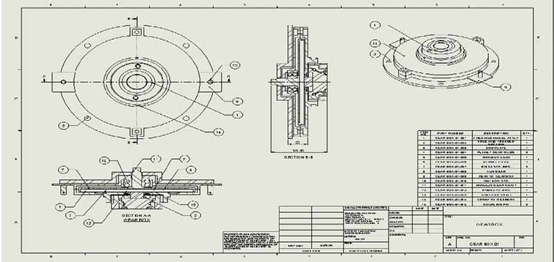 Mechanical CAD Projects: Assembly Drawings, Mechanical