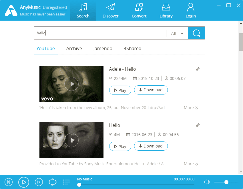 Download Free Music From All Over With AnyMusic App For Windows 1