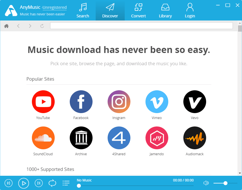 Download Free Music From All Over With AnyMusic App For Windows 3