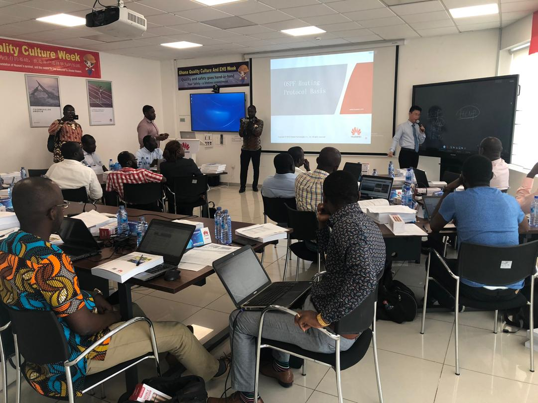 Huawei Ghana ICT Training Centre Launches with IP HCNP Training Class Start with 21 Ghanaians 2