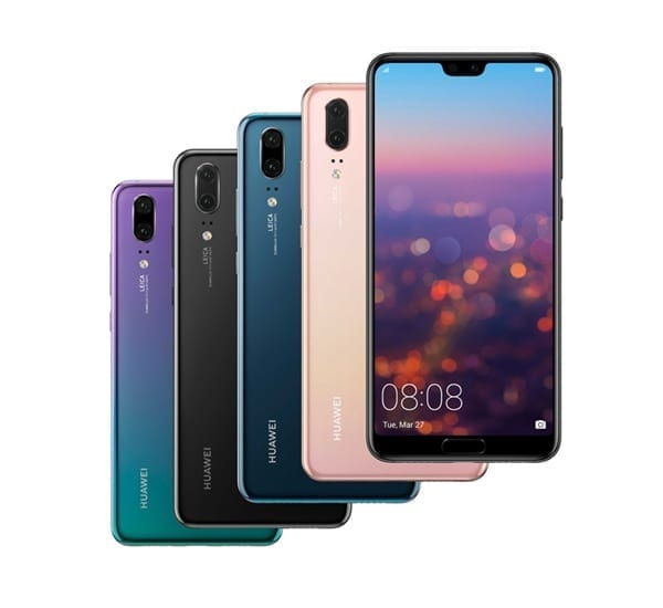 Huawei P20....list and specs of prominent phones Huawei released the previous year, 2018 - alongs side with their prices