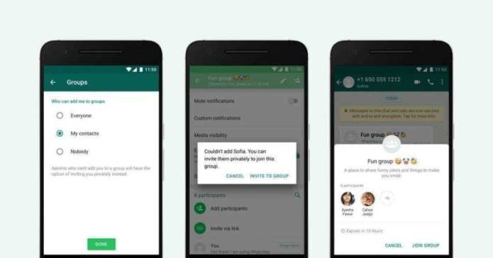 new WhatsApp group chats feature