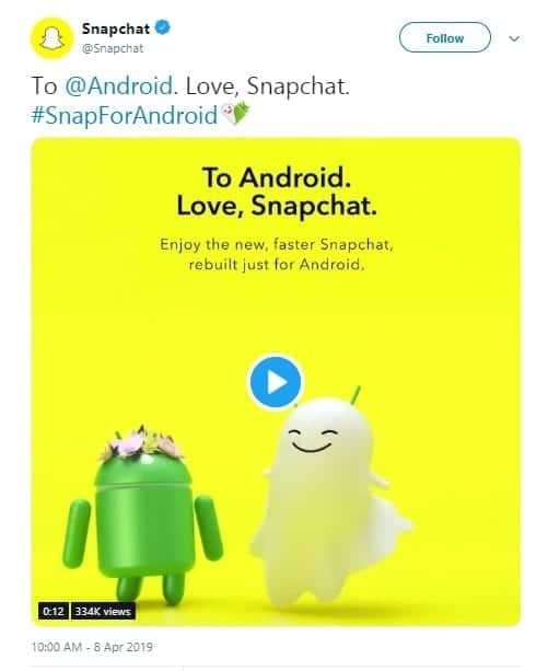Snapchat releases redesigned Android app