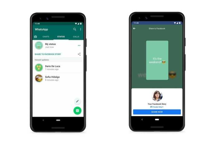 new WhatsApp to let users share Status to Facebook, Instagram, Gmail, etc.