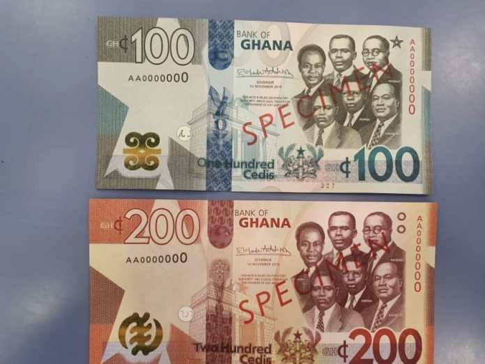 new ghana cedis notes and coin