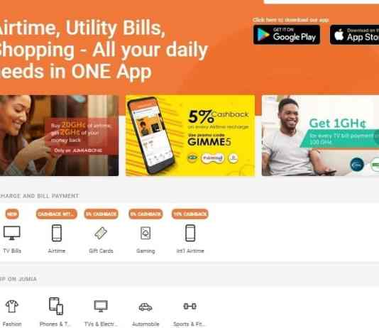 Jumia One gives you cashbacks on airtime purchases and payment of utility bills