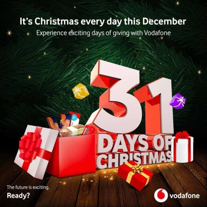 Vodafone Ghana launches 31 Days of Christmas promo for its subscribers