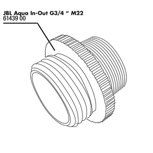 JBL Aqua In-Out metal adapter G3/4 M28/M22