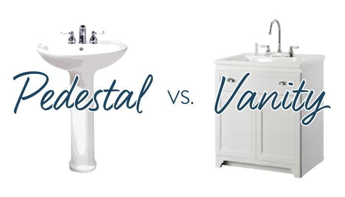pedestal sink vs vanity which is