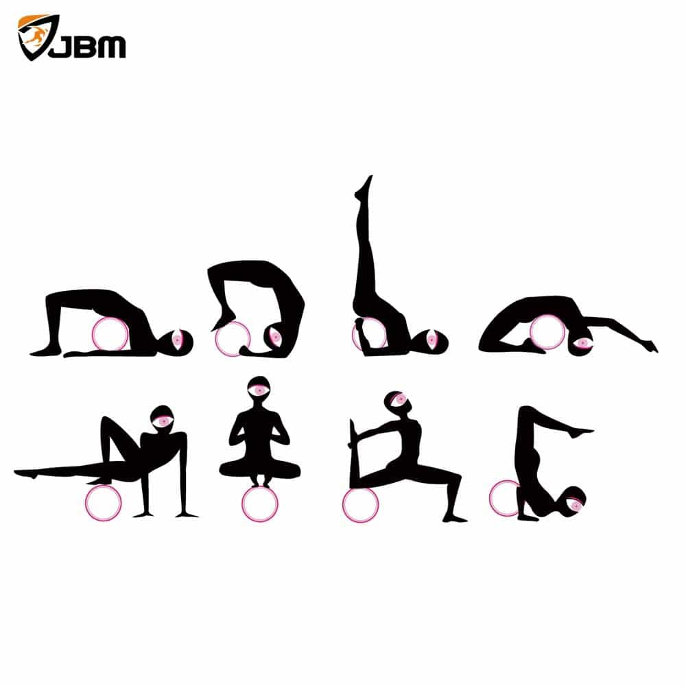 lightweight camping chair high back white office buy jbm yoga wheel for stretching and improving backbends, bridge pose, dharma pose ...