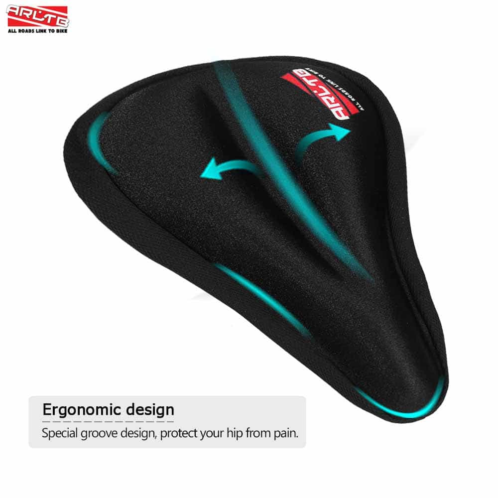 gel cushion for chair back pain buy arltb bicycle seat cover silicone pad saddle 3d online from jbm gear
