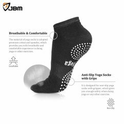 Pilates Chair For Sale Game Of Thrones Office Buy Jbm Silicone Dots Yoga Socks (7 Colors) Non Slip Breathable- Black Online From ...