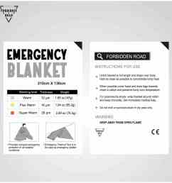 buy forbidden road emergency blanket 3 types first aid thermal survival foil blanket warming for camping hiking backpacking gold online from jbm gear [ 2108 x 2108 Pixel ]