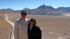 Chile - Atacama - Lagunas Altiplanicas - Laguna e Vulcao Miscanti