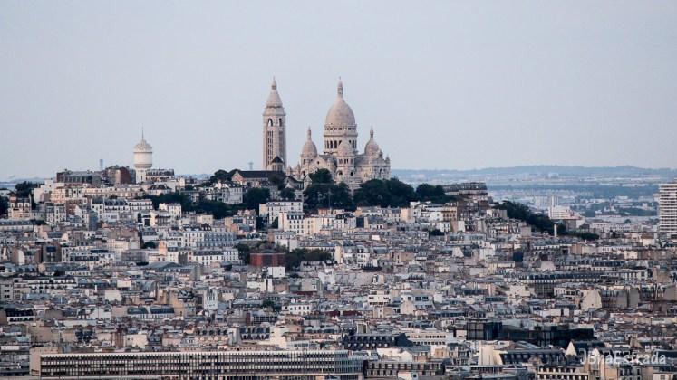 Franca - Paris - Torre Eiffel - Vista Basilica de Sacre-Coeur