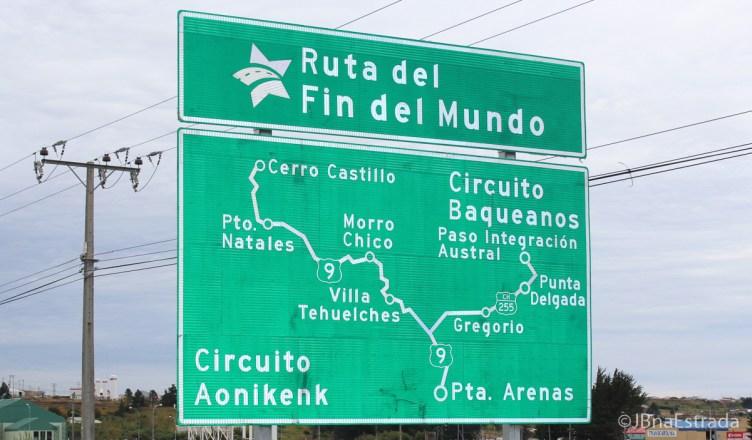 Chile - Estrada Punta Arenas-Puerto Natales