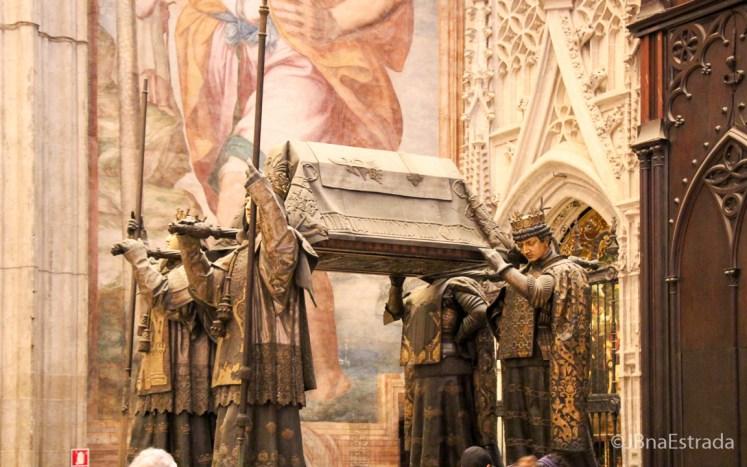 Espanha - Sevilha - Catedral - Los Restos de Cristobal Colon