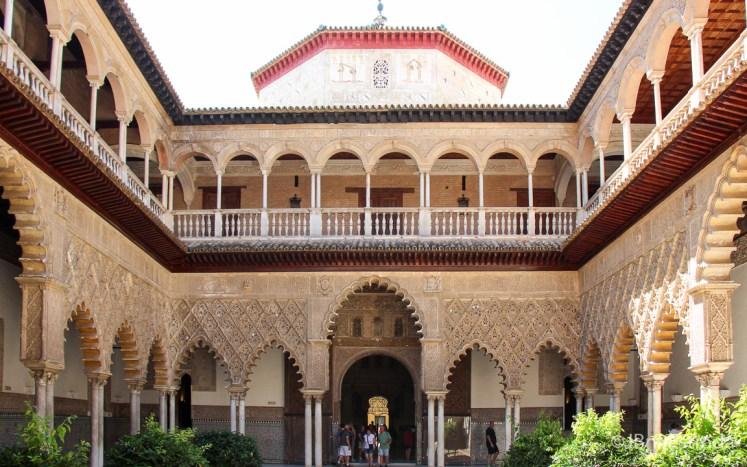 Espanha - Sevilha - Real Alcazar - Patio de las Doncellas