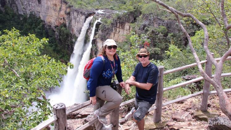 Brasil - Goias - PN Chapada dos Veadeiros - Trilha dos Saltos - Salto do Rio Preto 120m
