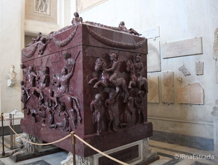 Museus do Vaticano - Museu Pio Clementino - Sala da Cruz Grega - Sarcofago de Helena