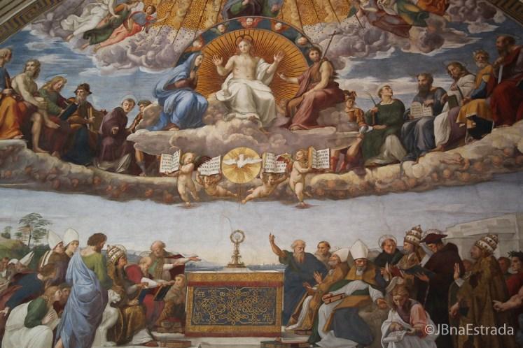 Museus Vaticanos - Salas de Rafael - Sala da Segnatura - Santissimo Sacramento