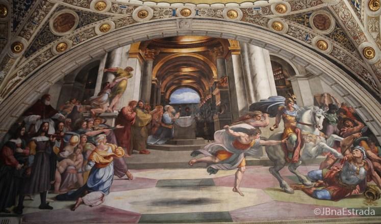Museus Vaticanos - Salas de Rafael - Sala de Heliodoro - A Expulsao de Heliodoro