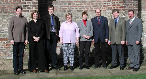 v.l.n.r: Lars Statenwerth, Pia Ziegler, Ralf Terstegen, Y. Ufermann-Puhlemann, Isa Feldkamp, Ulrich Mahner (2. Vorsitzender), Frank Brändel (1. Vorsitzender), Ludger Hutmacher