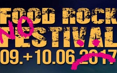Kein Auftritt beim Food Rock Festival :(