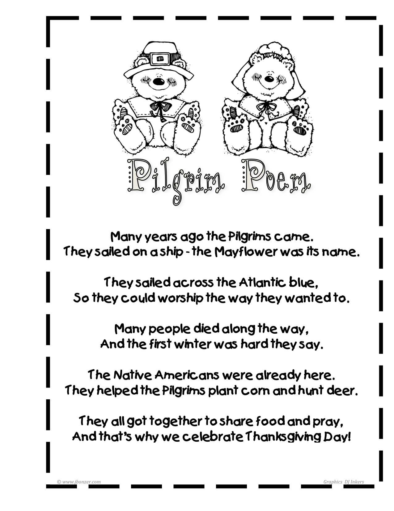 First Grade Pilgrims Worksheets First Best Free