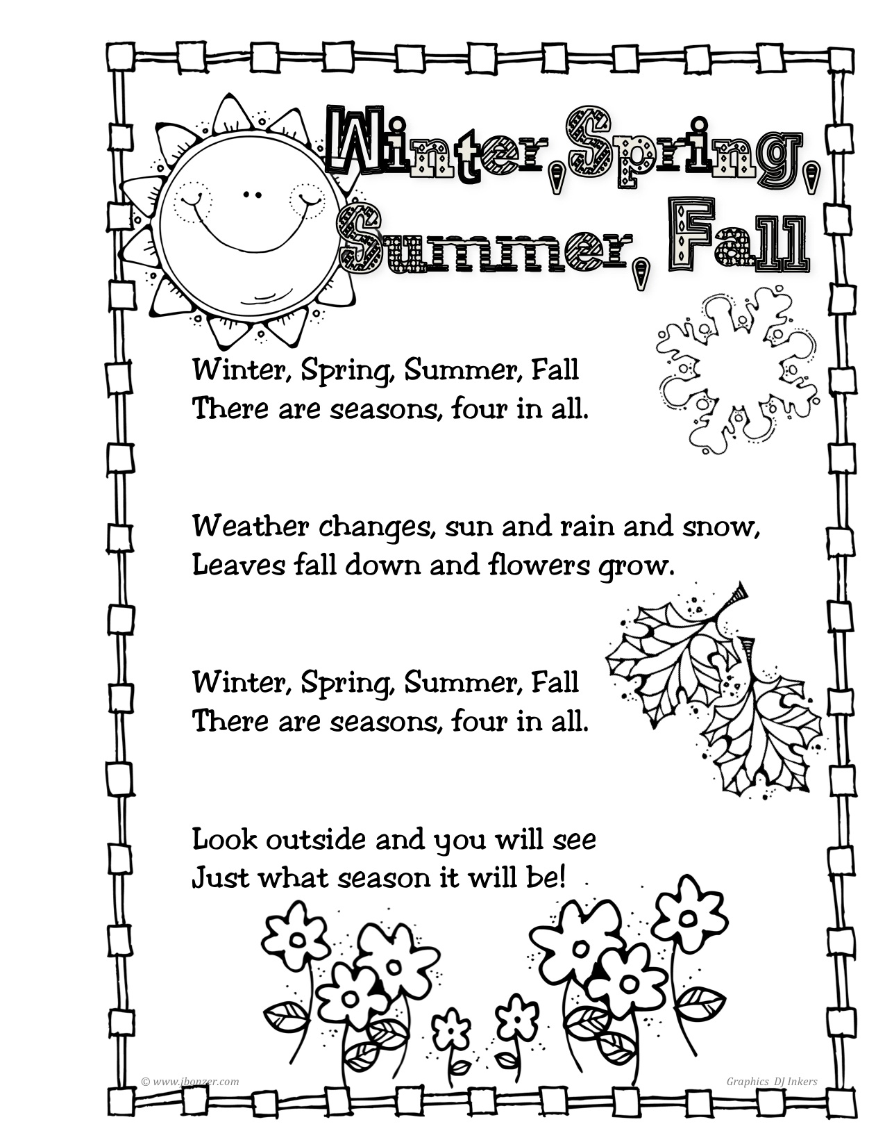 Search Results For Handprint Poems Worksheets Calendar