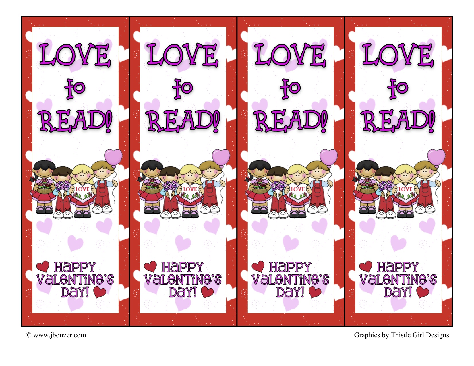 Tons Of Printable Bookmarks With Many Different Themes