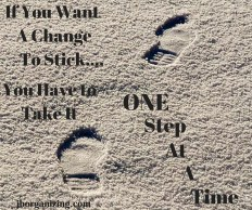One Step at a time graphic