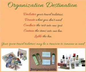 spare travel toiletries organization