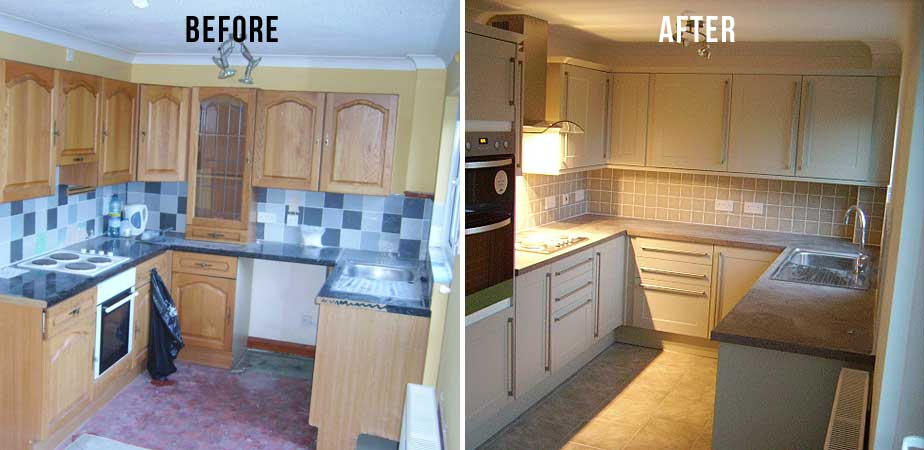 Small Kitchen Renovations And After