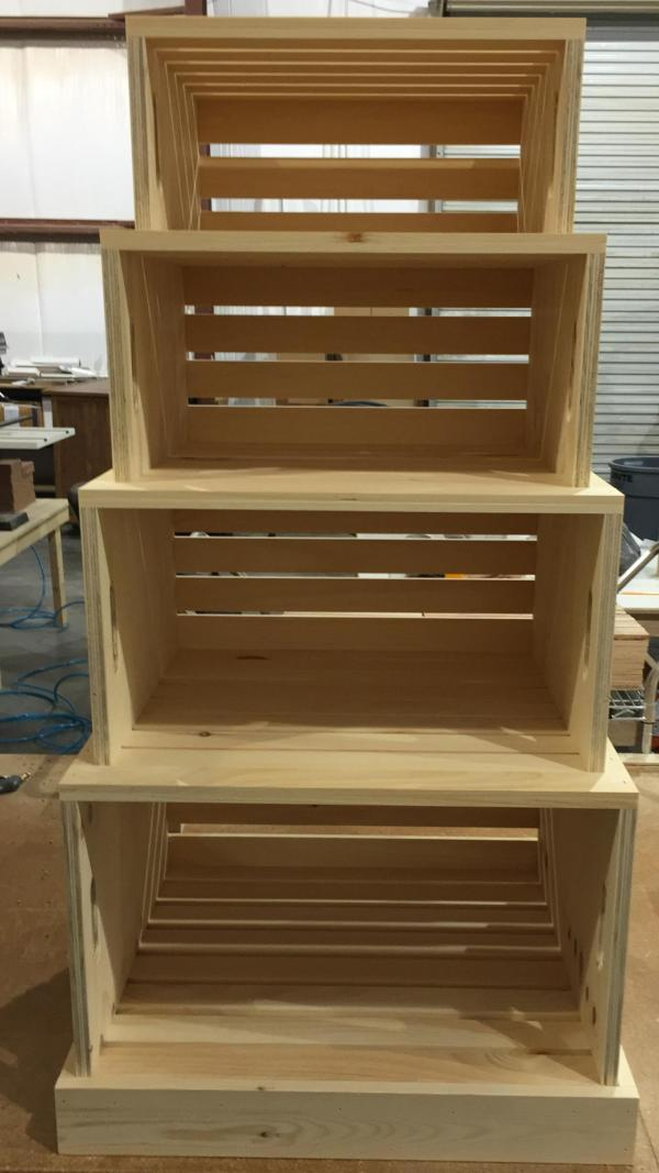 Rustic Wood Retail Store Product Display Fixtures & Shelving - Grocery Farm Market Produce