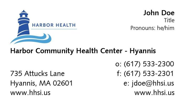 Hyannis Business Card
