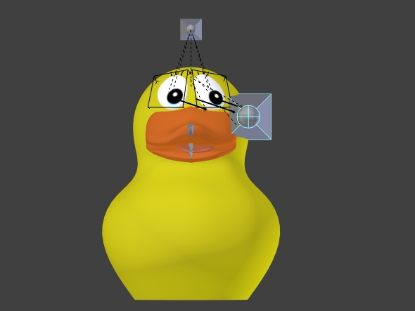 Looking down Rubber Duck