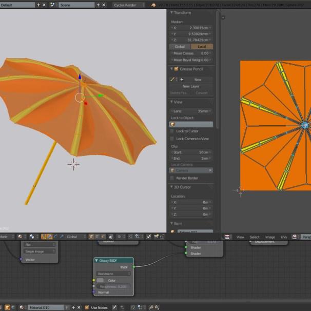 Umbrella UV Blender