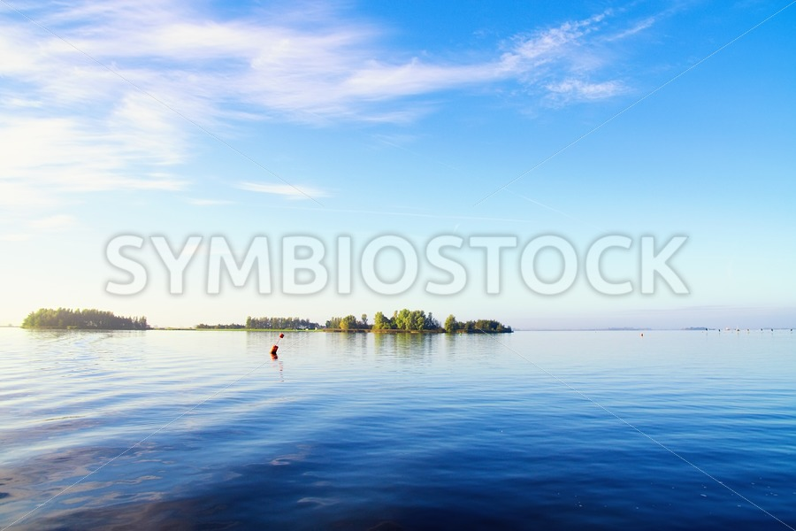 Blue lake - Jan Brons Stock Images