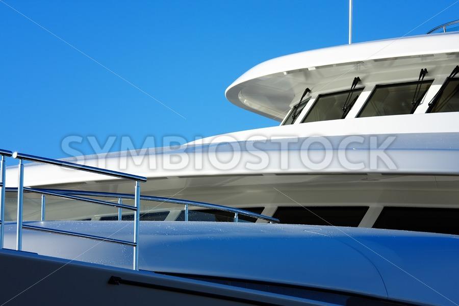 Closeup Super yacht. - Jan Brons Stock Images