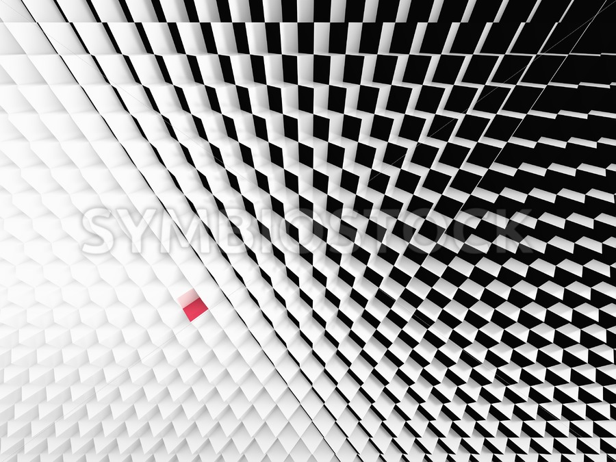 Perspective view Black White cubes