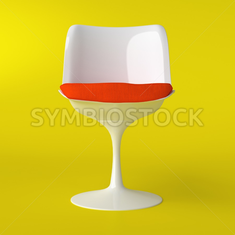 White Tulip Chair. - Jan Brons Stock Images